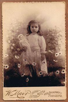 Flower Child - vintage cabinet card circa 1890