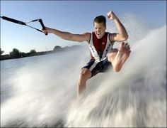 barefoot waterskiing-LOVE IT! So much fun...