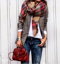 Bufandas en la calle. Nueva inspiración. | Cuidar de tu belleza es facilisimo.com