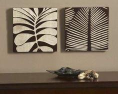 Tropical leaf carvings
