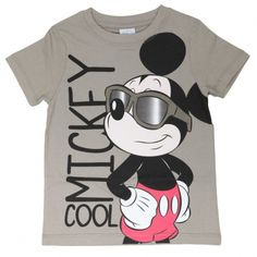 T-Shirt Mickey Cool - Taupe - Manches Courtes, Disney, 10,00 €