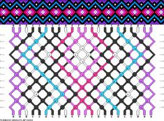 Friendship bracelet patterns. I used to use these all the time! Maybe I should take it up again.