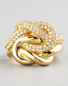 Love Me Knot Ring by Rachel Zoe at Bergdorf Goodman.
