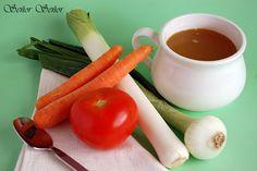 Caldo casero de verduras. La receta paso a paso. | Receta de Sergio