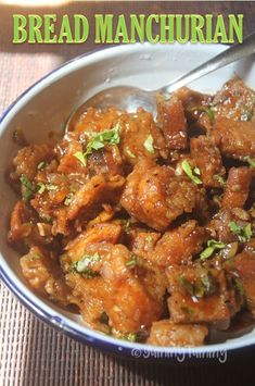 A very unique bread manchurian recipe which is so delicious with any indo chinese recipes. You can enjoy it on its own too.