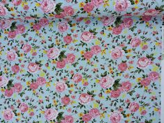CP0128 Blush Pink vintage roses print cotton Rose and Hubble fabrics flowers patchwork summer dress skirts/frock Fabric cotton by the yard