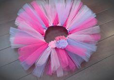 Pink and Lavender Birthday Tutu and Headband on Etsy, $38.00