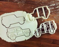 Classic Utility Vehicle Land Rover Defender 90 Inspired Cookie Cutter   biscuit cutter   four-wheel-drive off-road car   one of a kind ooak (5.00 GBP) by Made3D http://ift.tt/1IZmwm7