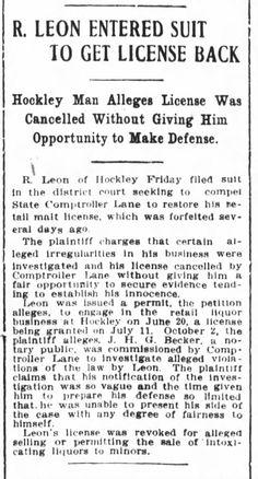 Found in The Houston Post in Houston, Texas on Sat, Nov 23, 1912. Houston Post nov 23, 1912 pg 11