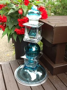 """Glass sealed within glass creates an interesting look...this one is """"tabletop"""" size."""