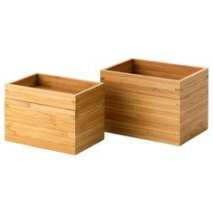 DRAGAN Set pour salle de bain, 2 pces - IKEA 15x10x11 cm et 17x12x12 cm