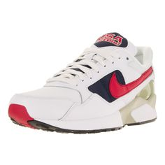 Nike Men's Air Pegasus '92 Premium, University Red, and Midnight Navy Running Shoes