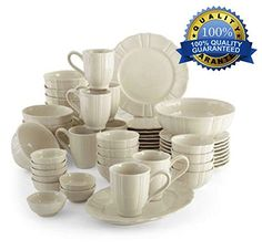 50pc Dinnerware Set Best Family Size White Kitchen Dining Dishes Sets Ideal for Parties Weddings Casual Formal Use Dishwasher & Microwave Safe Dinner Ware Plates 50 Pieces Mug Cups Bowls High Quality Guaranteed Stoneware Service for 8 People Dinner Sets By Fortune Bliss http://www.amazon.com/dp/B00KERGXDW/ref=cm_sw_r_pi_dp_sEQzub1ZJ7N79