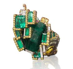 Wallace Chan Emerald Castle ring