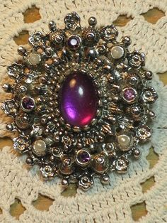 SARAH COVENTRY Catherine Brooch/Pendant B36 by delightfullyvintage, $18.00