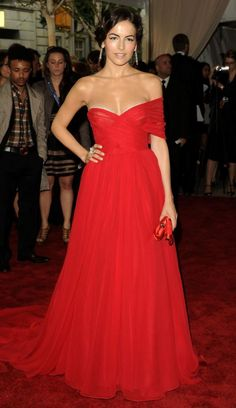 Camille Belle wearing one of my favorite red gowns by Jason Wu