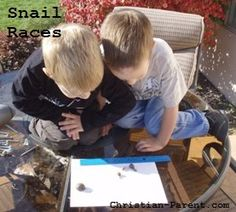 If you can find some snails, snail races are a great science activity for preschoolers.