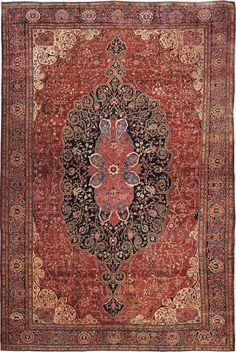 """Persian Sarouk Farahan rug,  14' 0"""" x 20' 10"""", J.H. Minassian gallery"""
