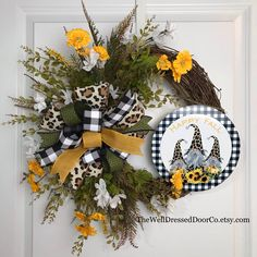Thanksgiving Wreaths, Thanksgiving 2020, Fall Wreaths, Candy Cane Wreath, Whimsical Christmas, Holiday Candy, Fall Signs, Wired Ribbon, Happy Fall