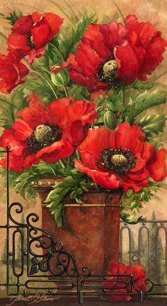 """Tuscan Bouquet I"" / Janet Stever"