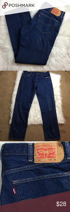 Levi's 501 button fly jeans New condition, size 40w 36L button fly Levi's Jeans Relaxed