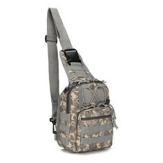 """This Ruggedly Handsome Tactical Army Sling Bag Is Your Long-Lasting Companion For Every Day Use and Fun Small Trips! Material: Strong & Durable 800D Waterproof Nylon (Military Grade) Size: L:8in W:4in H:12in Storage: Lots of compartments. Fits 9.7"""" iPad, small notepad, keys, wallet, cell phone, flashlight, gloves, bottle of water, chargers etc. Perfect for camping & hiking trips as well. Expandable: Molle pouches can be attached easily for added convenience. Order Today for FREE Super Sa Fishing Backpack, Climbing Backpack, Backpack Camping, Tactical Sling, Tactical Backpack, Shoulder Sling, Shoulder Backpack, Shoulder Straps, Shoulder Bags"""