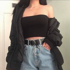 Cute Casual Outfits, Edgy Outfits, Mode Outfits, Retro Outfits, Korean Outfits, Girl Outfits, Fashion Outfits, Soft Grunge Outfits, School Outfits