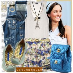 How To Wear Le Bunny Bleu - Romantic & Vintage Flat Shoes Outfit Idea 2017 - Fashion Trends Ready To Wear For Plus Size, Curvy Women Over 20, 30, 40, 50