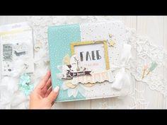 """Детский альбом из бумаги """"Little you"""" Crate Paper. Album by Zhavoronkova. Скрапбукинг - YouTube"""
