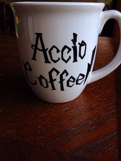 Accio Coffee Harry Potter coffee cup by TeasTreesAndThreads
