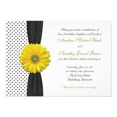 DealsYellow Gerbera Daisy Polka Dot Wedding Invitationin each seller & make purchase online for cheap. Choose the best price and best promotion as you thing Secure Checkout you can trust Buy best