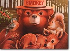 Cards and Postcards - Friends Postcard Smokey The Bears, Campaign Posters, I Remember When, Postcards, First Love, Teddy Bear, Kid, Spaces, Education