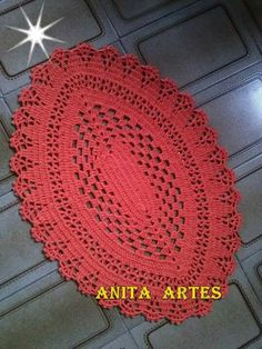 Tapetes folhas Crochet Doily Patterns, Thread Crochet, Crochet Doilies, Crochet Flowers, Knitting Patterns, Crochet Baby, Free Crochet, Pineapple Crochet, Red Lace