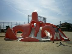 The first tako-no suberidai or octopus slides... - Mrs Tsk *