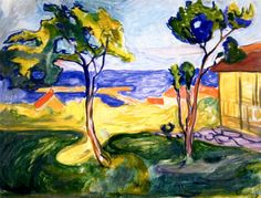 bofransson:  The Garden in Åsgårdstrand  Edvard Munch - 1904-1905