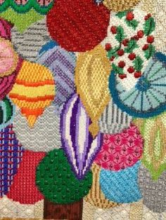 Ridgewood Needlepoint Blog, needlepoint Christmas ornaments picture