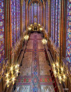 Saint Chapelle, Paris-photo V. Sainte Chapelle Paris, Saint Chapelle, Gothic Architecture, Beautiful Architecture, Paris Travel, France Travel, The Places Youll Go, Places To See, Louvre Paris