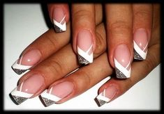 Wedding Nails-A Guide To The Perfect Manicure – NaiLovely French Nails, French Manicure Nails, Cute Nails, Pretty Nails, My Nails, Fingernail Designs, Gel Nail Designs, Beautiful Nail Art, Gorgeous Nails
