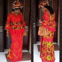 African Wear, African Attire, African Fashion Dresses, African Dress, Ankara Long Gown Styles, Africa Fashion, Peplum Dress, Cool Outfits, Womens Fashion