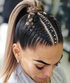 Pin on Hair Ideas Pin on Hair Ideas Sporty Hairstyles, Cool Braid Hairstyles, Easy Hairstyles For Long Hair, Baddie Hairstyles, Teen Hairstyles, Braids For Long Hair, Pretty Hairstyles, Athletic Hairstyles, Short Hair