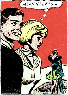 """Comic Girls Say. """"Meaningless..'  #comic #vintage"""