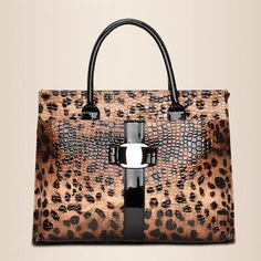Available Now on our store:  Women handbag lux... Check it out here ! http://mamirsexpress.com/products/women-handbag-luxury-leopard-pattern-patent-leather-top-handle-bags-square-short-handle-laptop-business-bag-womens-tote?utm_campaign=social_autopilot&utm_source=pin&utm_medium=pin