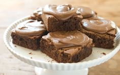 For those who like their brownies iced, these are the perfect brownies! Bittersweet chocolate makes them decadent and dark.
