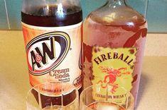 Fireball cream soda 22 Bizarre Alcohol Combinations That Actually Taste Amazing Fireball Drinks, Fireball Recipes, Party Drinks Alcohol, Liquor Drinks, Alcohol Drink Recipes, Cocktail Drinks, Alcoholic Drinks, Bourbon Drinks, Cocktail Recipes