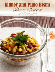 Kidney and Pinto Beans Mix Salad Recipe