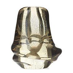 "GUNNEL NYMAN - Glass vase ""Musselglas"" for Nuutajärvi Notsjö, late 1940's, Finland. [h. 16,5 cm]"