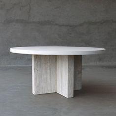 Concrete and Reclaimed Elm Table | Villa Vici