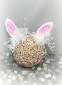 Bunny Ear Hair Clip Bunny Ears Bow Easter by BowGrannyBowtique
