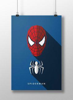 Spiderman (Flat Design) by Moritz Adam Schmitt Marvel Comics, Marvel Heroes, Marvel Room, Comic Books Art, Comic Art, Comic Character, Character Design, Hero Squad, Flat Design Poster