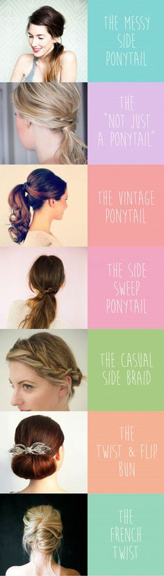 """Ditch the perma-ponytail and try one of these quick & easy hairstyles. We've all heard of the dreaded """"Mom Jeans"""", but we're here to shield you from """"Mom Hair."""" So twist, tuck, and braid your way to some fast, easy and pretty new hairstyles. #NoMoreMomHair"""
